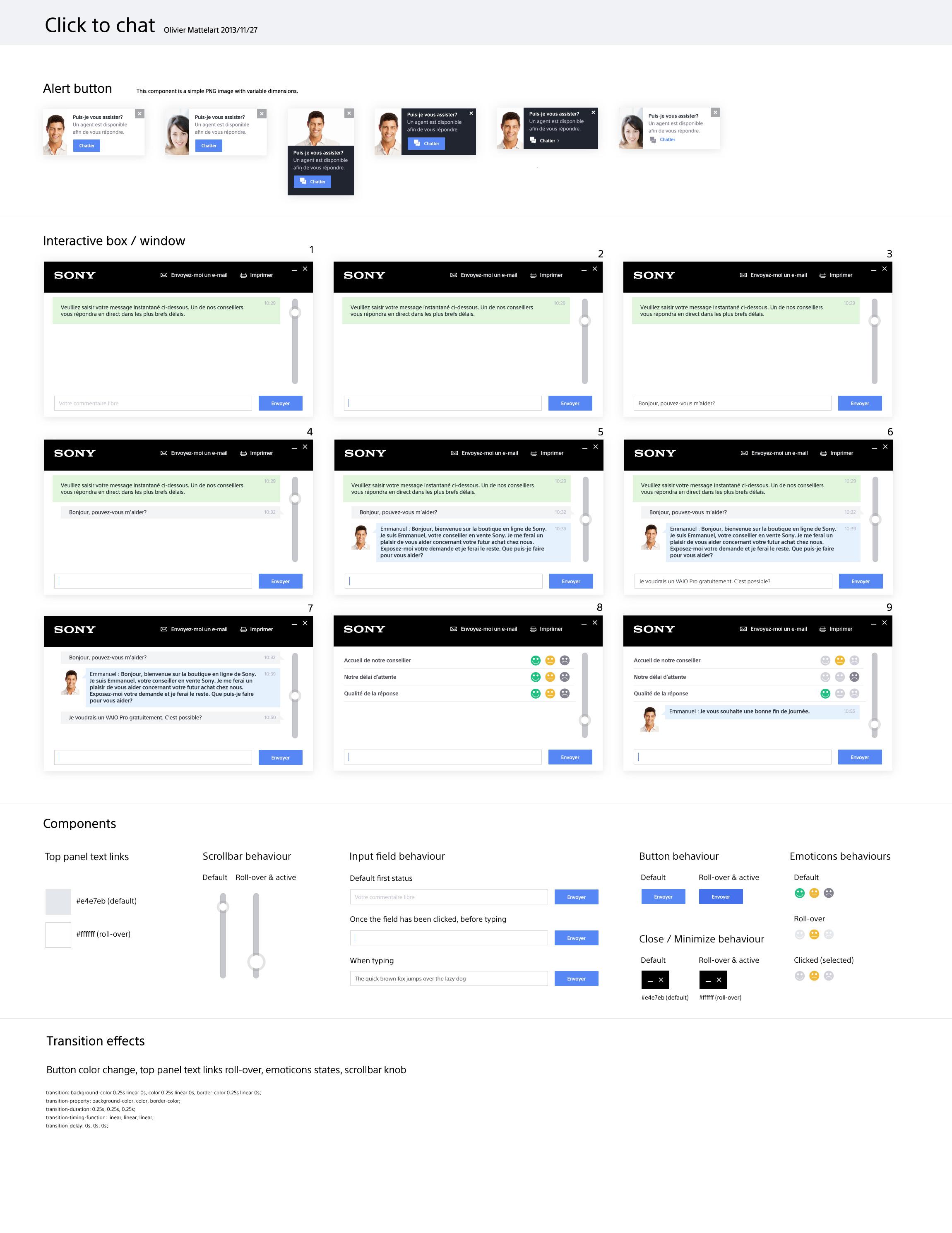 Design d'application de chat en ligne
