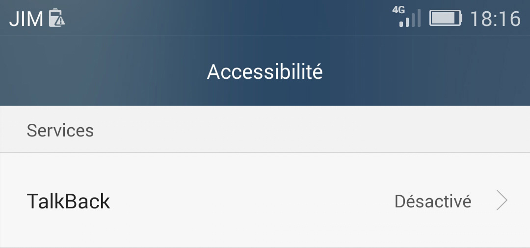 Android : accessibilitévia Google Talkback
