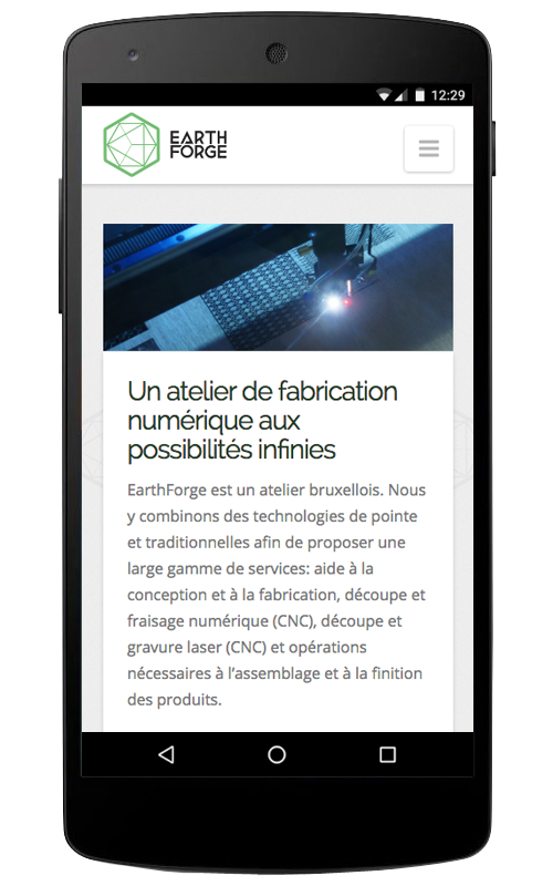 Earthforge : smartphone Nexus 5