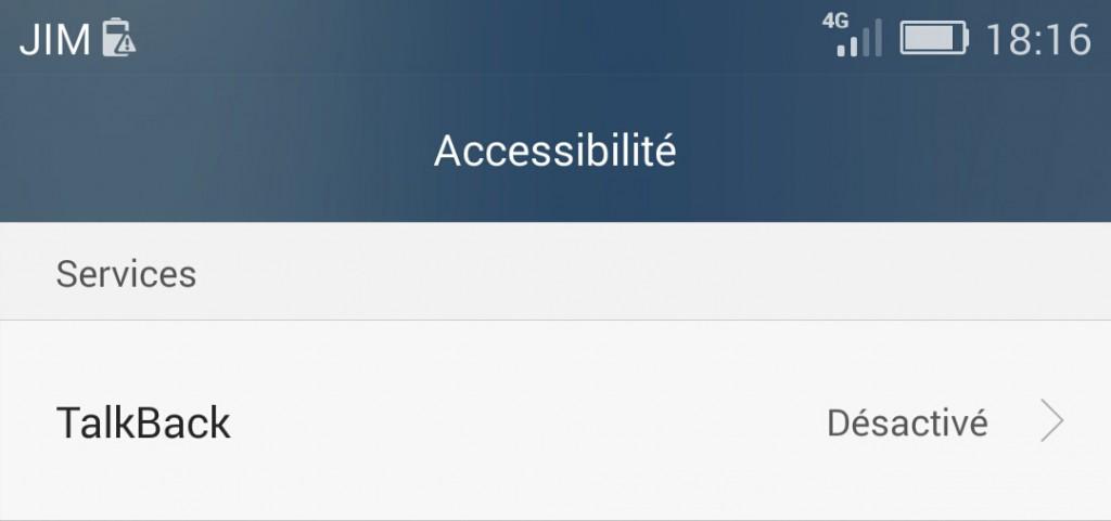 Android : accessibilitévia Google Talkback
