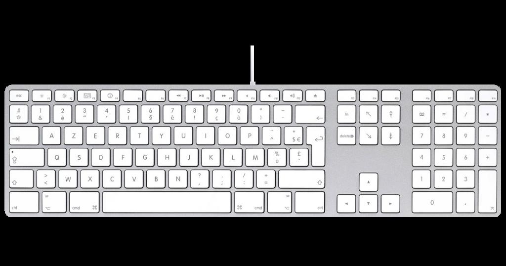 Clavier Apple avec pavé numérique