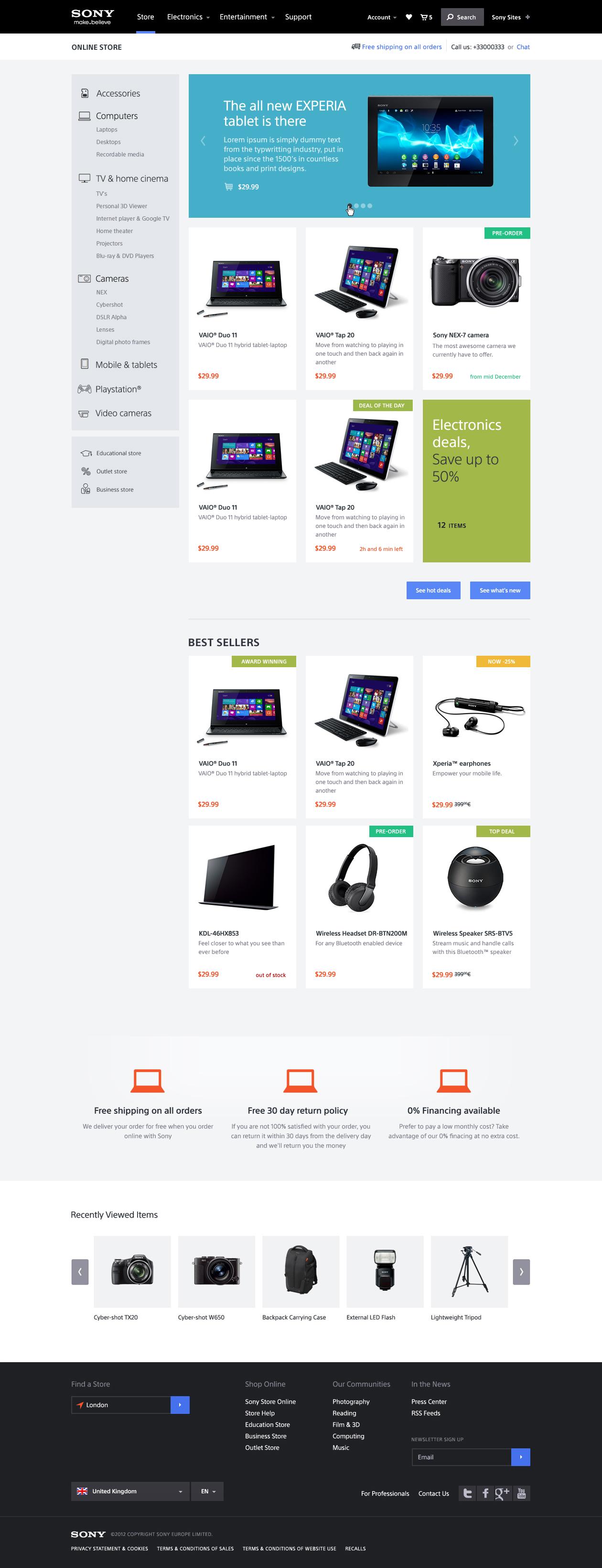 Prototypes pour site de vente