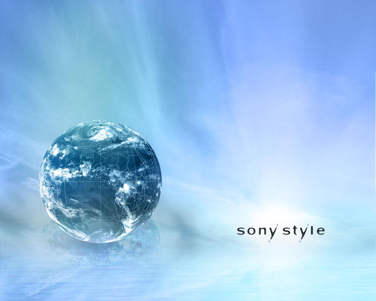 Papier-peint : Sony Style earth 1280x1024